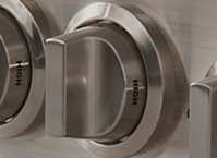 Knob (Burner): High/Low - Brushed Stainless