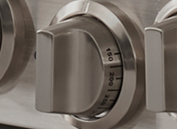 Knob (Oven): Bake & Broil - Brushed Stainless