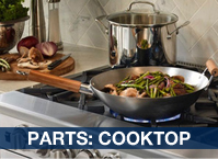 Service Parts: Burners and Cooktop Area
